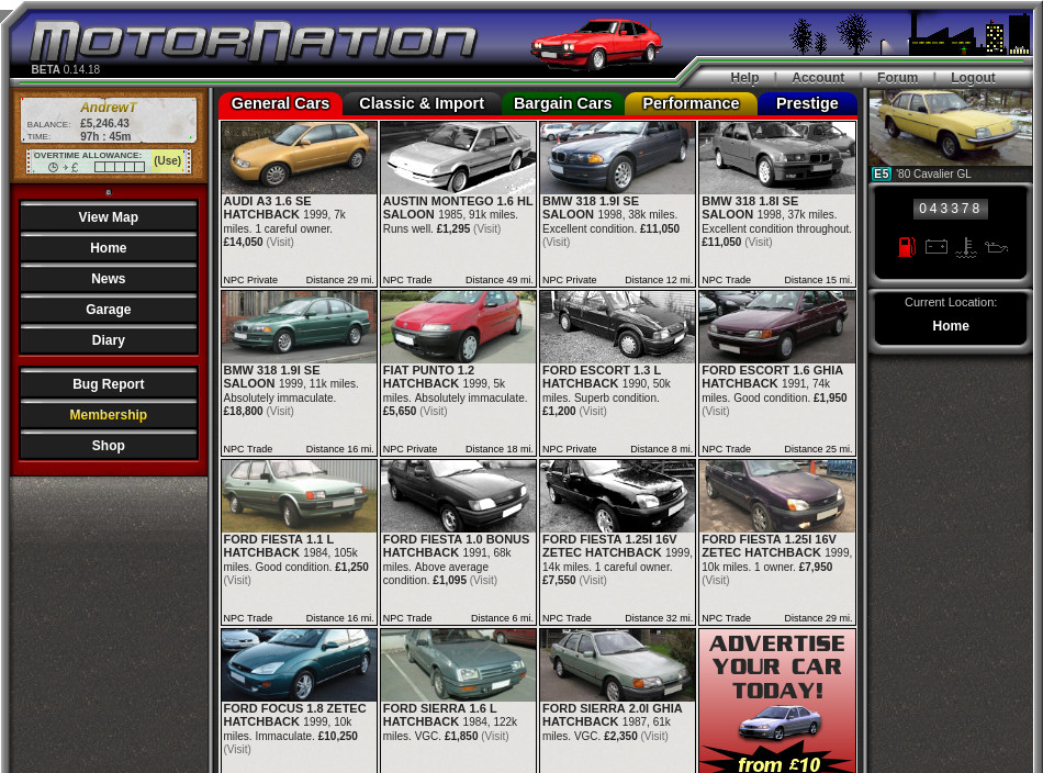 Buy second hand cars from the classifieds