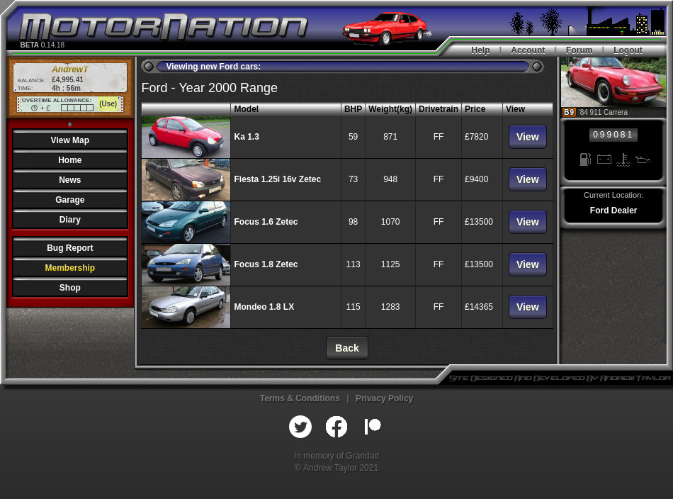 You can also purchase brand new cars. Although bear in mind the game is set in the year 2000!